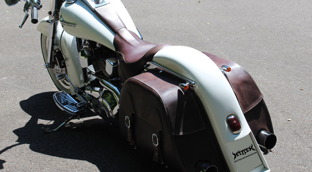 Sattel fuer Harley Davidson Fatboy Customized